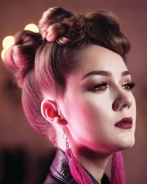 Hair: @amandafator <br />Photographer: @jamiesoloriophotographer Fashions: @darkponydesigns <br />Model and makeup: @its.amanda.rose