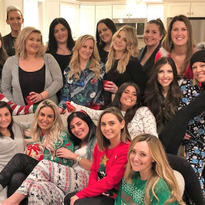 The lives of Amanda Barror (center, bottom) and her happy tribe at the two Aqua Salon and Spas...
