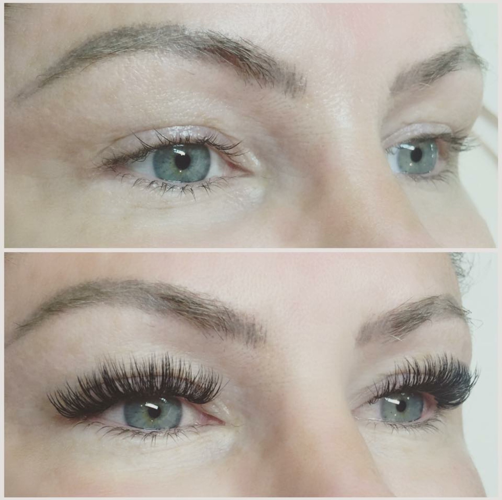 Before and after lash application by <strong>Lindsey Rae Joslyn Rohner</strong>