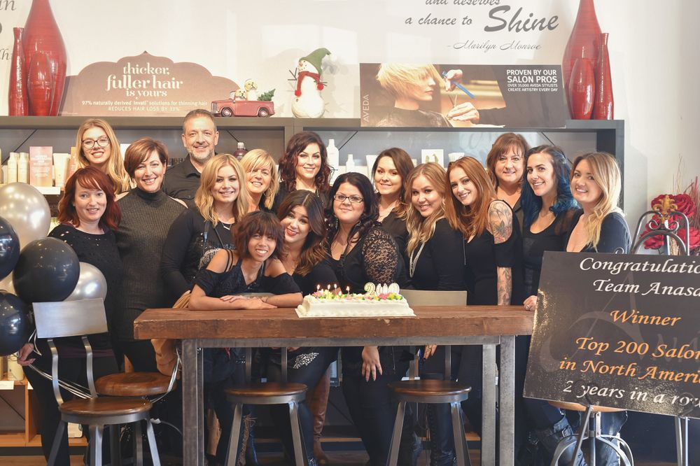 The team from Anasa Hair Studio in Temecula, CA.