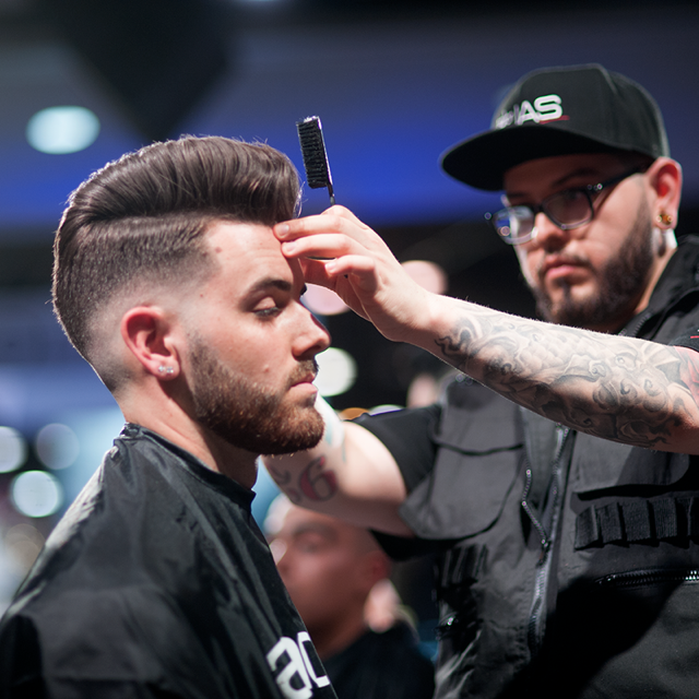 Contestants have 30 minutes to complete a fade cut on a live model and must remove at least a half inch of hair.