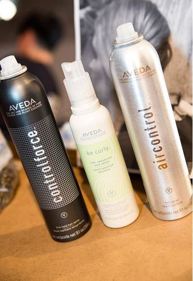 STEP 1: Prep with Aveda Pure Abundance Style Prep and blow dry with fingers directing hair away from face. This will add the texture and volume needed to create this look.