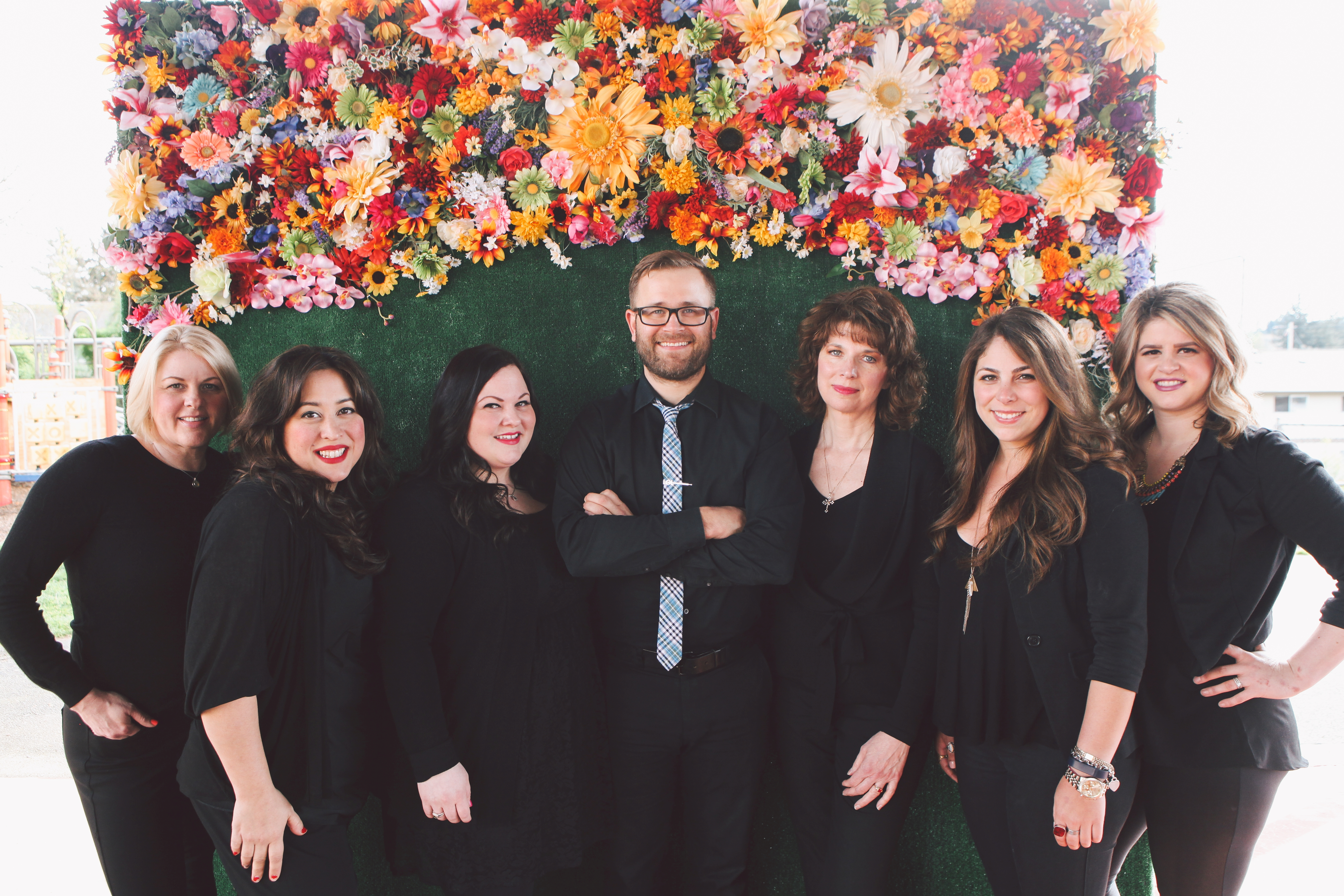 The management team at Annastasia Salon in Portland, Oregon.