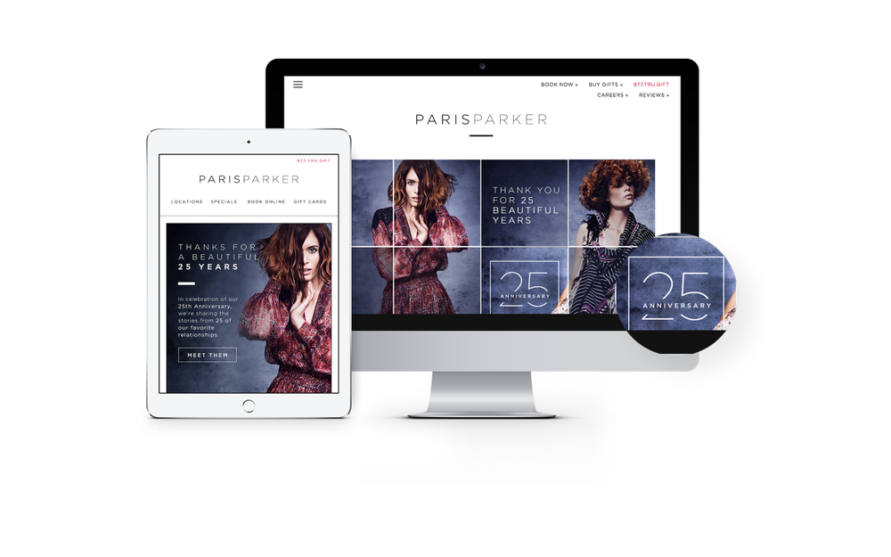 To celebrate its 25th anniversary, Paris Parker told blog stories of 25 valuable relationships that made company who it is today.