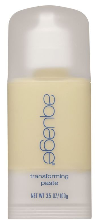 """<p>""""Aquage Transforming Paste is 80% hairspray and 20% wax with a matte finish. For men, it's an easy way to create strand definition and separation and hold at the same time.""""</p> <p>-@nicole_fowler_aquage</p>"""