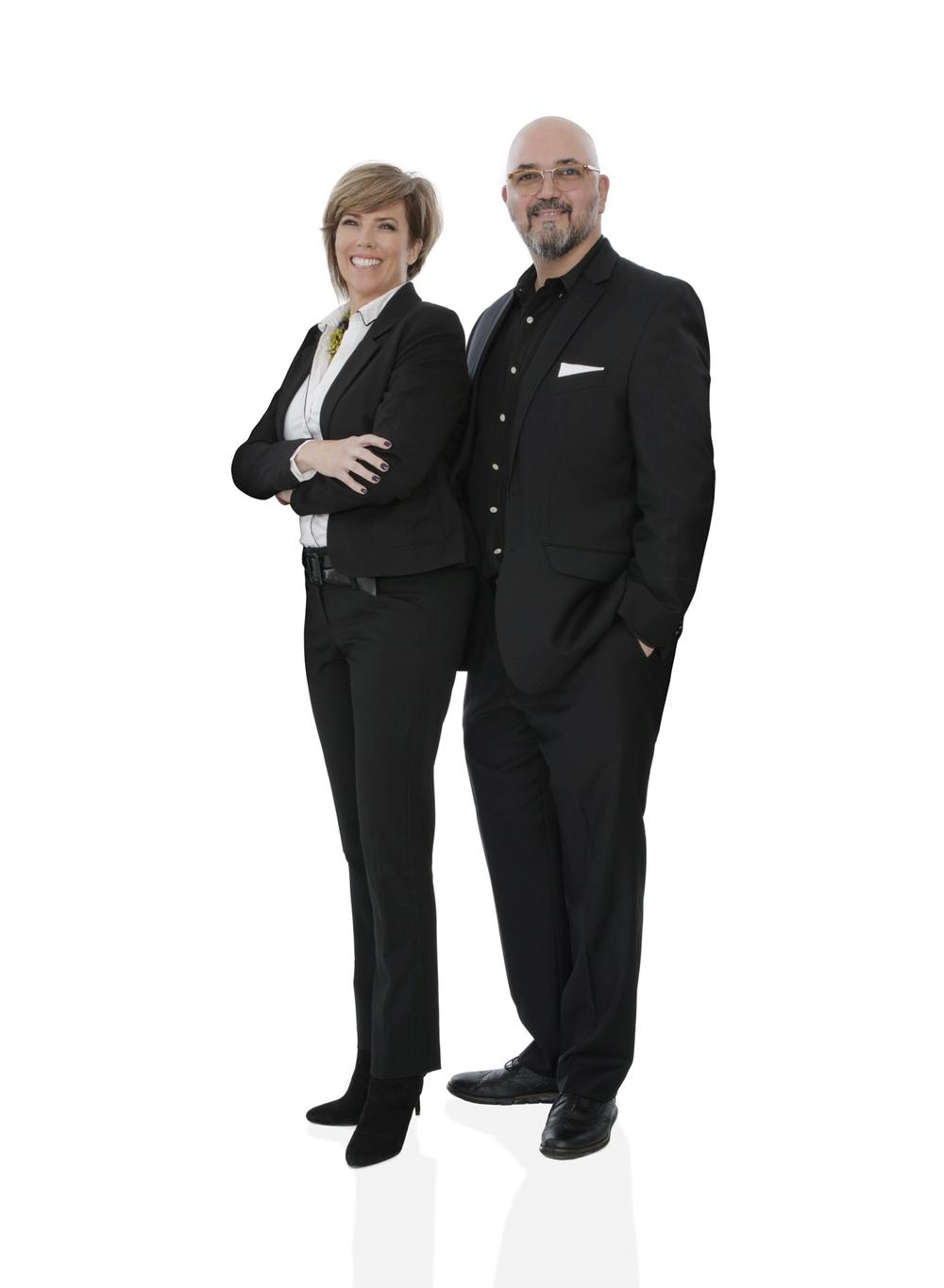 Mechelle and Matthew Khodayari, owners of Aria Salon Spa Shoppes in Alpharetta and Cumming, Georgia.