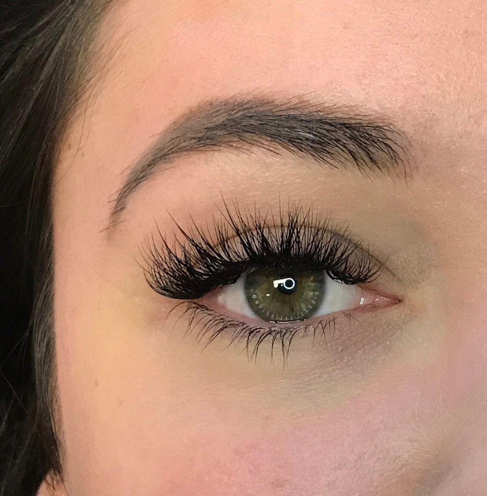 """<p><strong>This client was already blessed with long lashes, so Alison's strategy was to add volume to balance the length. """"I used a hybrid technique, mixing NovaLash Classic and Volume C and D lashes in 8mm and 16mm,"""" she explains. """"It's the ultimate Valentine's Day look!""""</strong></p>"""