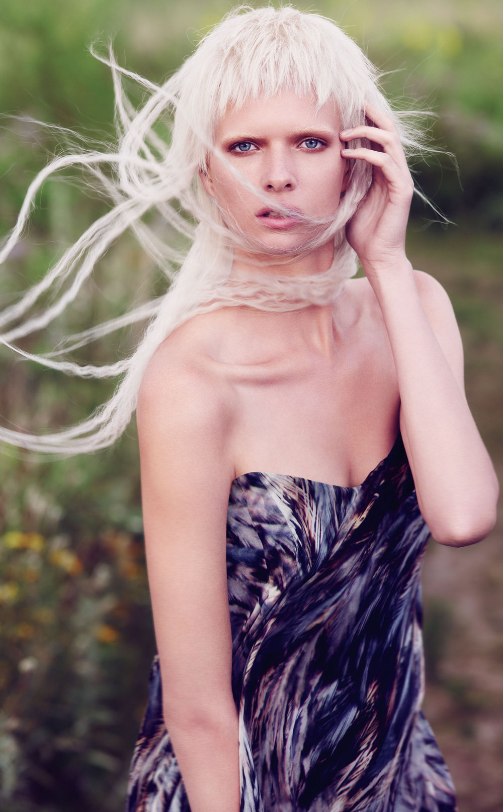 """Today it's about individuality. It's not about one look. Blonde can be many things and feel very different to different people. It's all about refining the shade of blonde, so it feels really special – a lot like the wildflowers in this field."" —Ian Michael Black, Aveda Global Artistic Director, Hair Color"