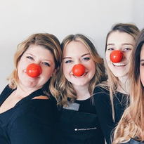 Red Nose Day at Aveda Institute Nashville in Franklin, TN.