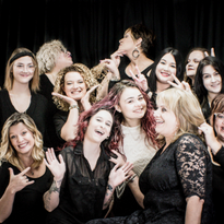 The team from Avenue Hair Design cutting up in Venice, Florida.