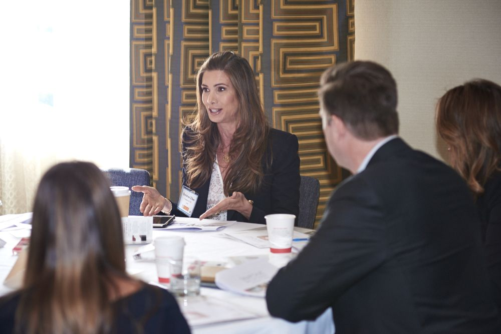 "<p>BBR15 Facilitator <strong>- Christina Zilber </strong>(Founder &amp; CEO/<strong>Jouer Cosmetics</strong>) at her roundtable ""<em>Branding in the Era of Snapchat""</em></p>"