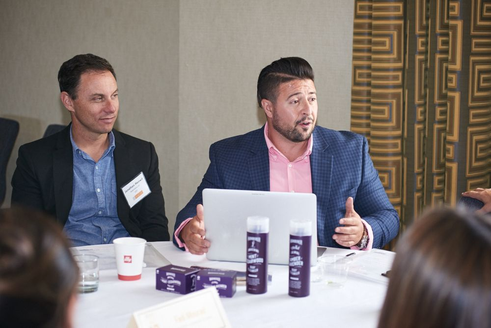 "<p>BBR15 Facilitator – <strong>Fadi Mourad </strong>(Chief Innovation Officer/<strong>Dollar Shave Club</strong>) at his roundtable</p> <p><em>""Men's Needs – A Hard Nut to Crack""</em></p>"