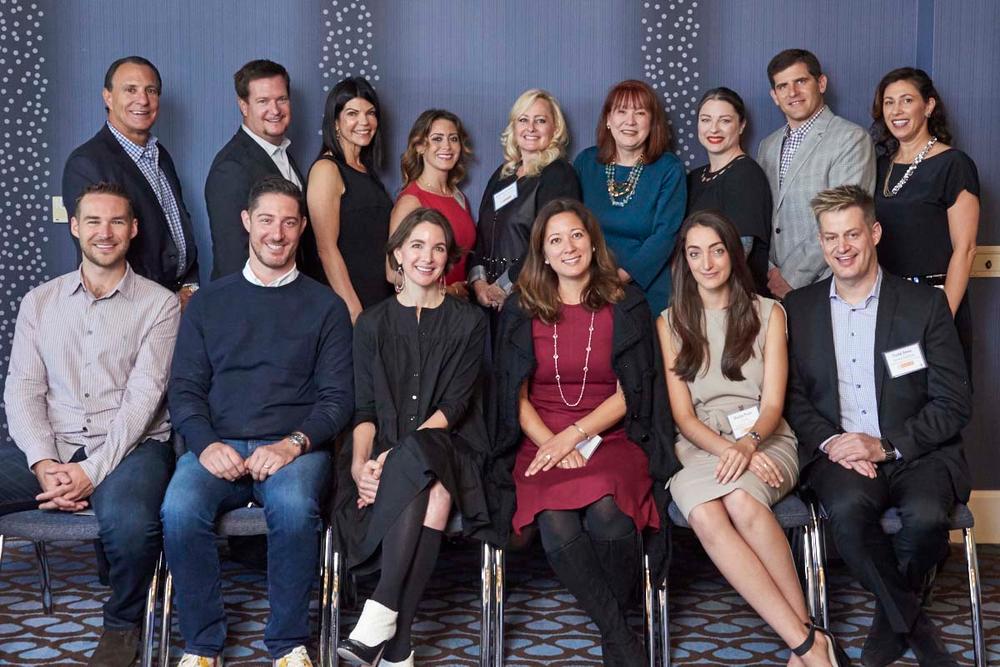 Back (l to r): Harlan Kirschner (CEO, The Kirschner Group), Ryan Sieverson (President, SEVEN ), Laura Chisholm (VP of Sales &amp; Education, BECCA), Andrea Zeller (VP of Sales, Cosmopak), Shannaz Schopfer (SVP of Global Strategic Dev., Anisa Int'l), Robin Carmichael (Pres. &amp; CEO, Helix Biomedix), Shasta Blaustein (Product Dev. Manager, ColourPop), Jonathan Weiss (CFO, Freeman Beauty),&amp; Frances Mazur (CEO, Mazur Group) <br />Front (l to r): Brian Freeman (Founder/CEO, Heartbeat), Paul Emmer (VP, BAMKO), Elizabeth Maul (EVP of Brand Dev., Luxury Brand Partners), Lizzie Francis (Founding Partner, Brilliant Ventures), Giulia Prati (Assoc.Director of Research, L2 Inc.),&amp; Todd Shea (VP of Marketing, Innovation &amp;Strategy, AWARE Pro