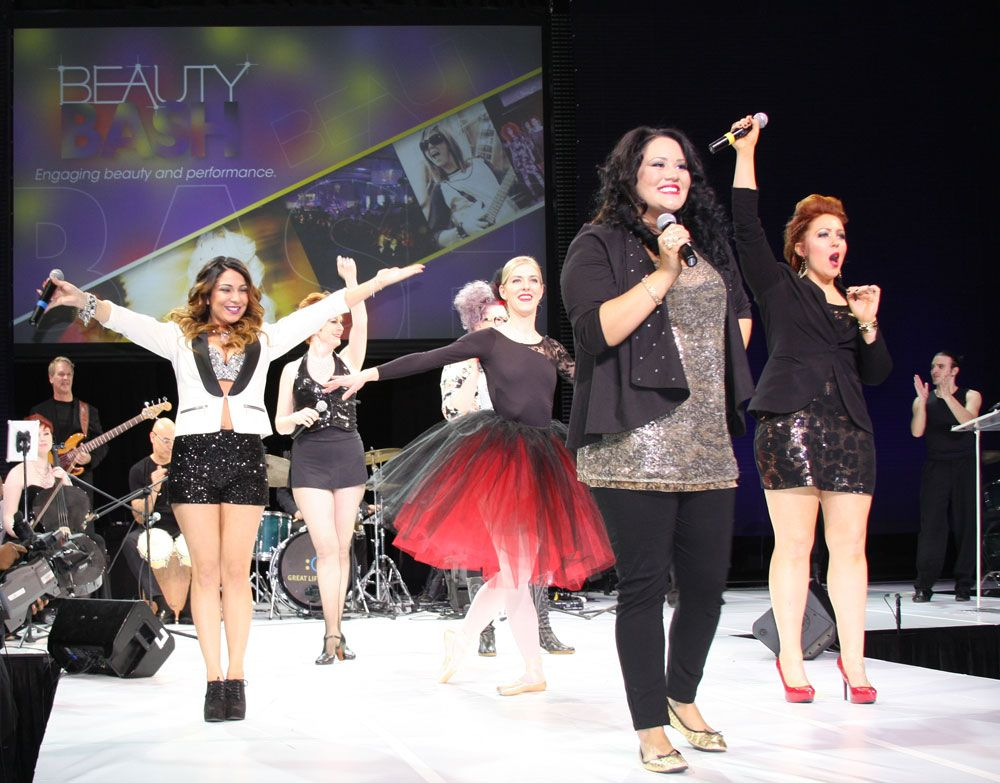 All BeautyBASH Talent Showcase winners came together for a grand musical finale.