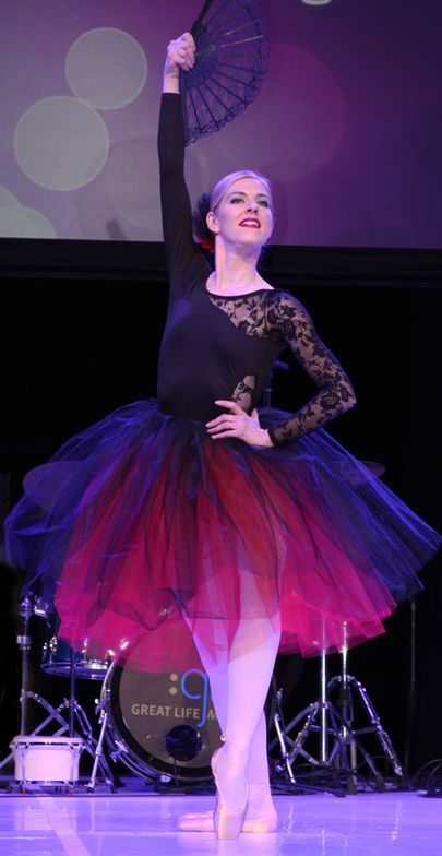 Katherine Lanave of Howell, Michigan performed a delicate ballet as part of the BeautyBASH Talent Showcase.