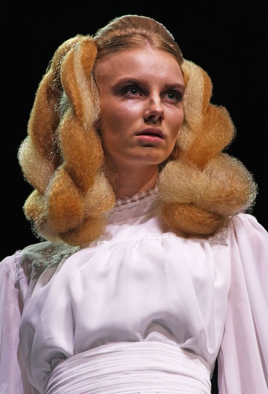 ABS Runway headliner Tracey Hughes re-created one of the iconic bridal looks from the late stylist Xenon.