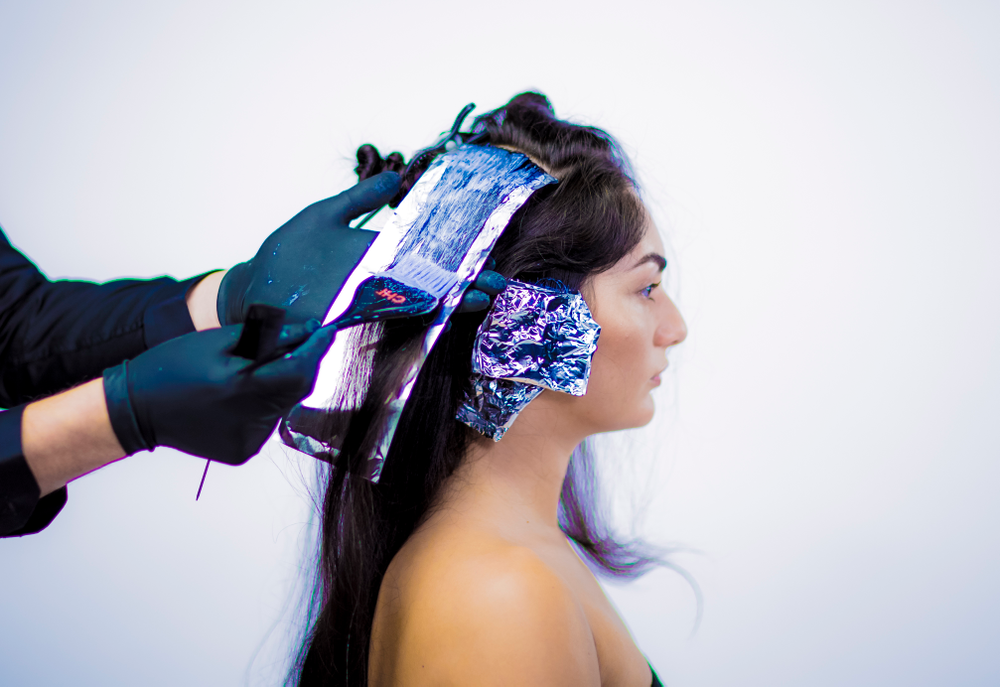 COLOR 1:<strong>STEP 4 -</strong> Apply Formula 1 from roots to ends. Isolate in foils.