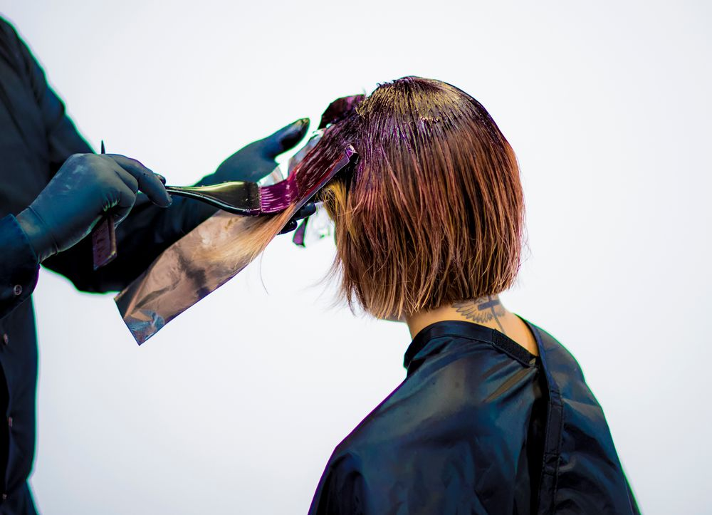 COLOR 2: STEP 3 - Finish the application on the ends with Formula 2.