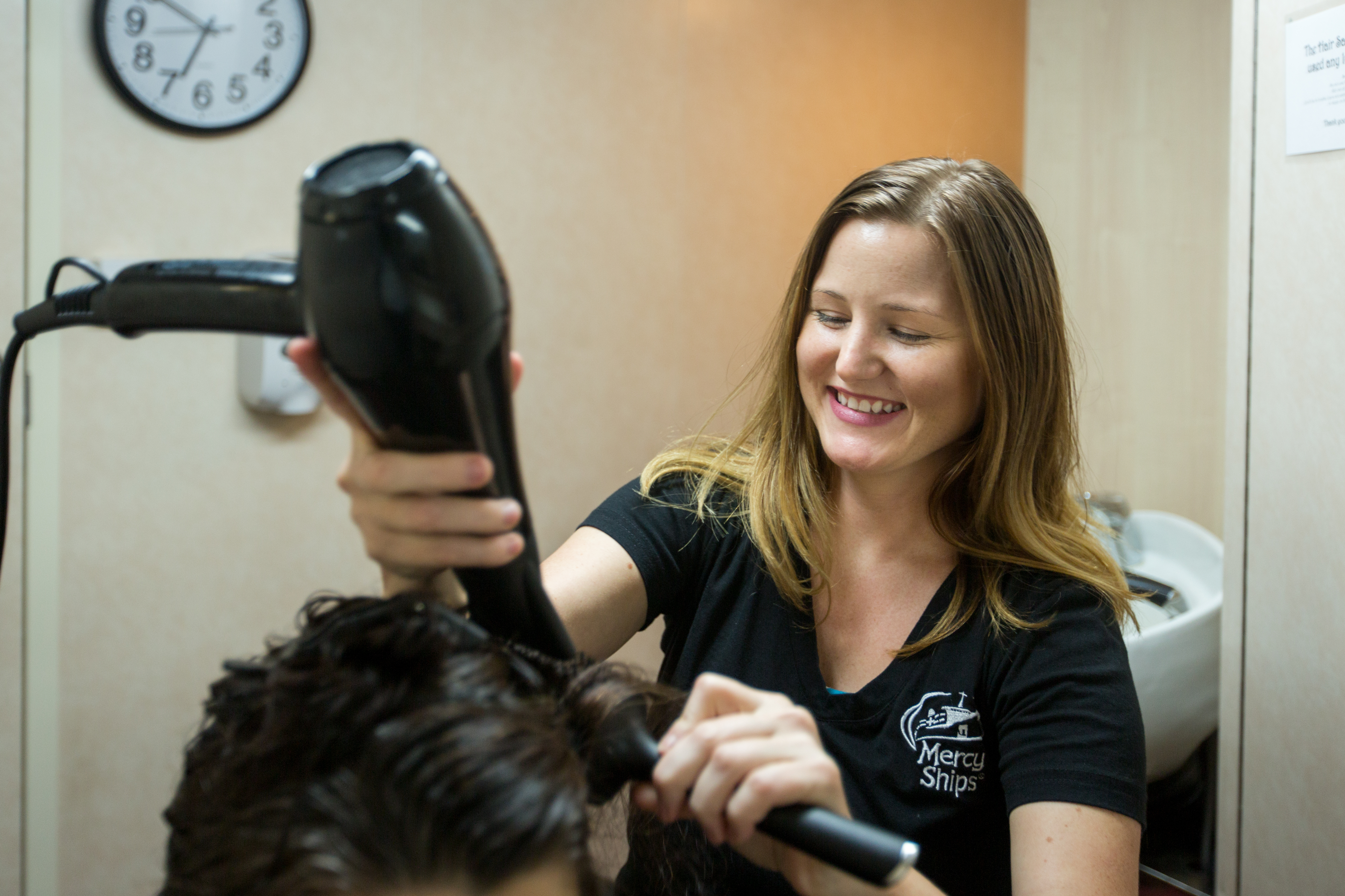 """Hairdressers have such a unique platform to create a positive ripple effect in our communities,"" she says. ""Our clients look to us for not only fashion trends, but also lifestyle trends. If I am making socially responsible choices, it will inspire my clients to as well."" Credit: Katie Callow"