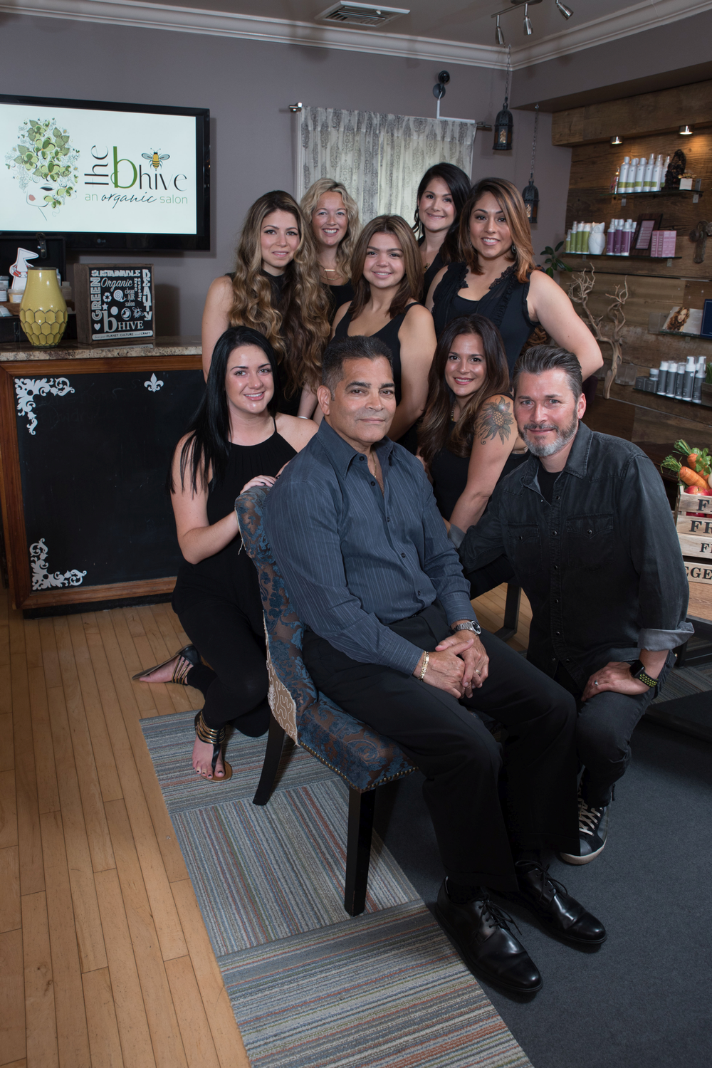The team from The B Hive Organic Salon, in Hilsdale, NJ, organized a Wine and Spirits event to benefit Justice and Soul.