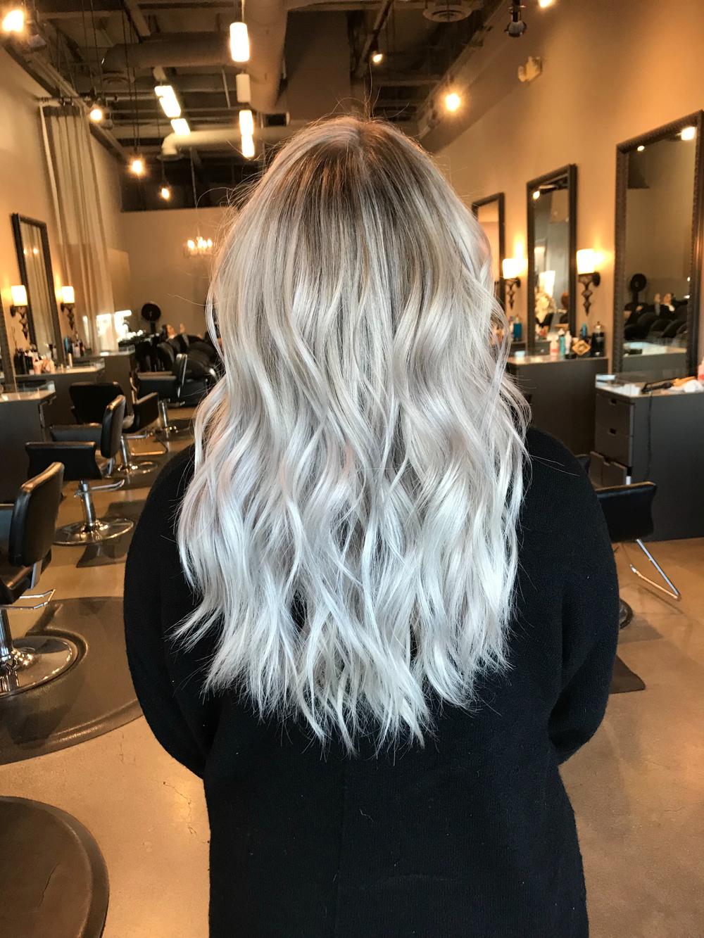 A blonde finish by Nicole Koshak