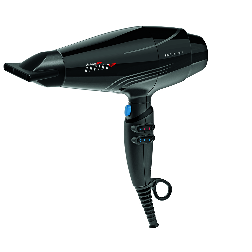 BaBylissPRO Rapido Hair Dryer with nozzle attachment