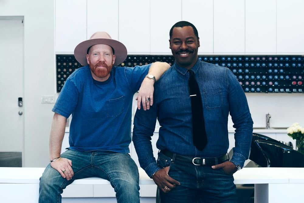 Jason Backe and Ted Gibson, co-owners of Starring by Ted Gibson in Los Angeles.