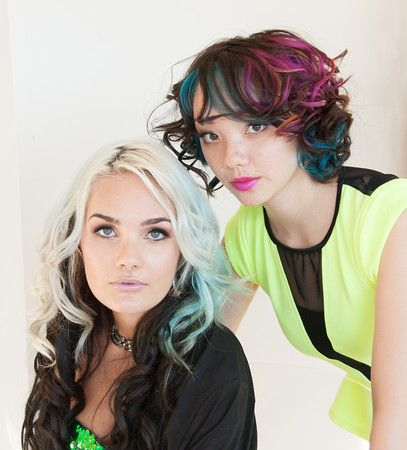 Hair Color: Megan Warren (left) from Lytles Redwood Empire Beauty College in Santa Rosa, CA with her model