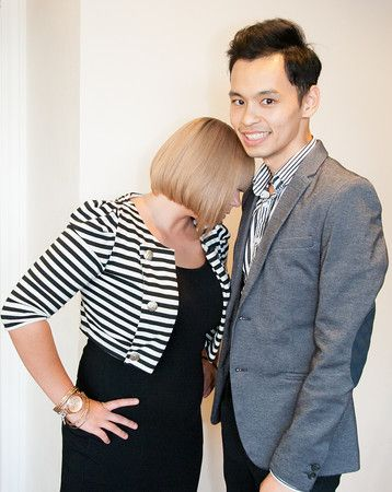 Shape: Tyler Bui (right) from San Francisco Institute of Esthetics and Cosmetology, A Paul Mitchell Partner School in San Francisco, CA with his model