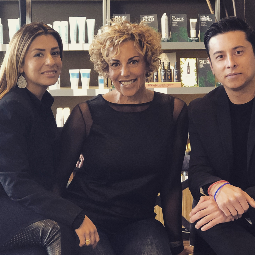 Karla Lopez-Martinez, Keri Davis-Duffy and Jon Rizo, developers of BeautyBackbone.com, a salon business website.