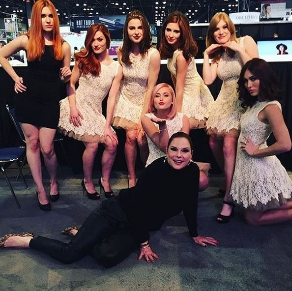 Beth Minardi and her team of models at America's Beauty Show in Chicago.