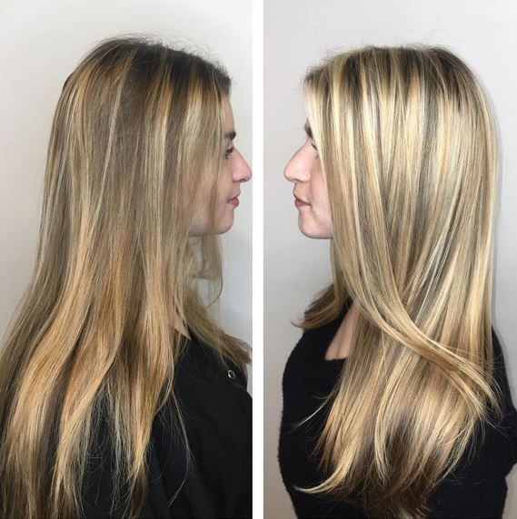 Corrective color before and after on @bethminardi