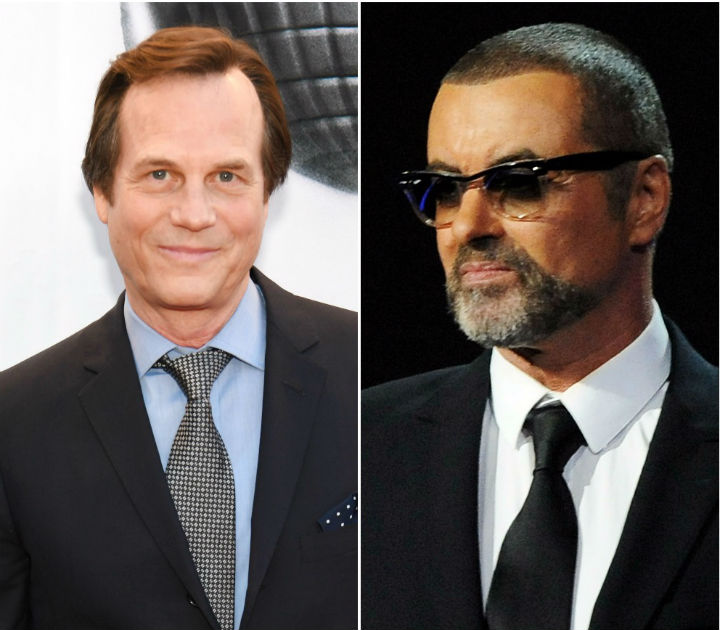 Bill Paxton (left) and George Michael Getty Images
