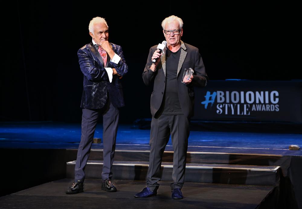 Fernando Romero presented Nicholas French with a Lifetime Achievement Award