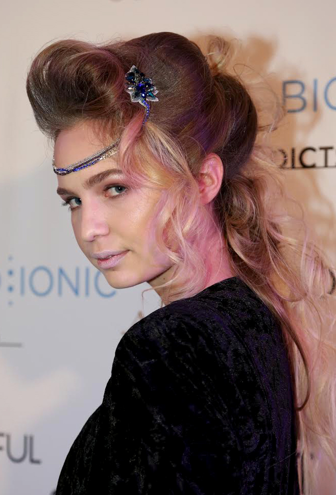 The winning model look by Jessica Warburton