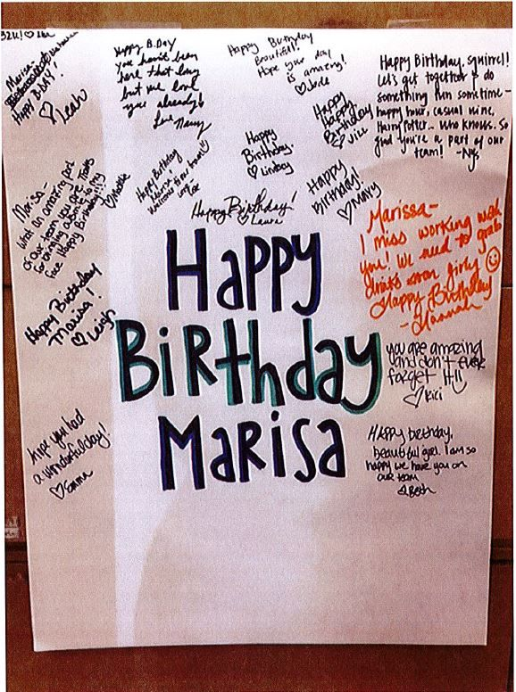 A simple poster allows everyone in the salon to celebrate a staff member's birthday.