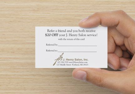 STAMP 2014: J. Henry's Business Card