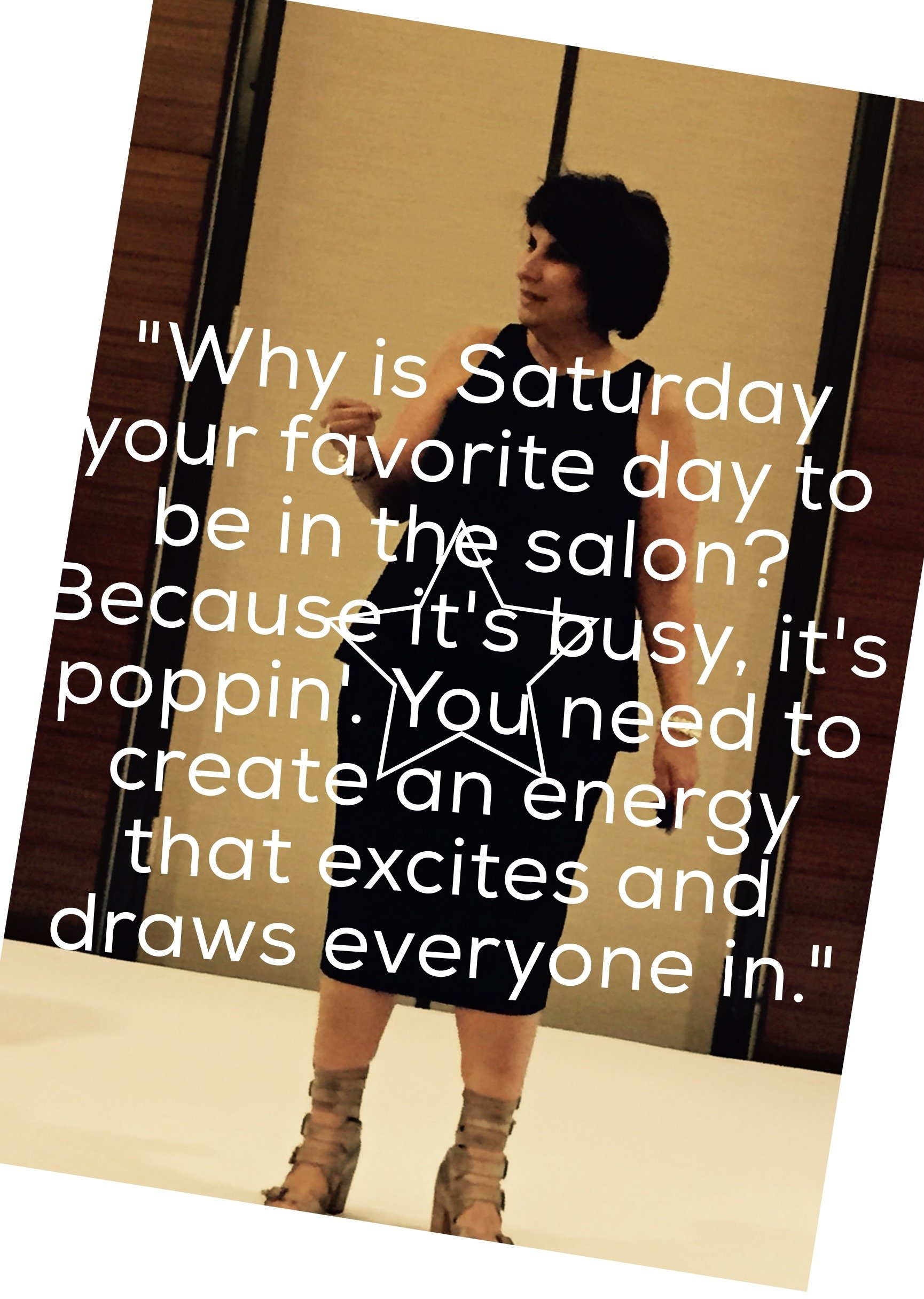 Terri Cowan on how salon owners can get everyone to want to work.  By creating an energy, an excitement in the salon environment.