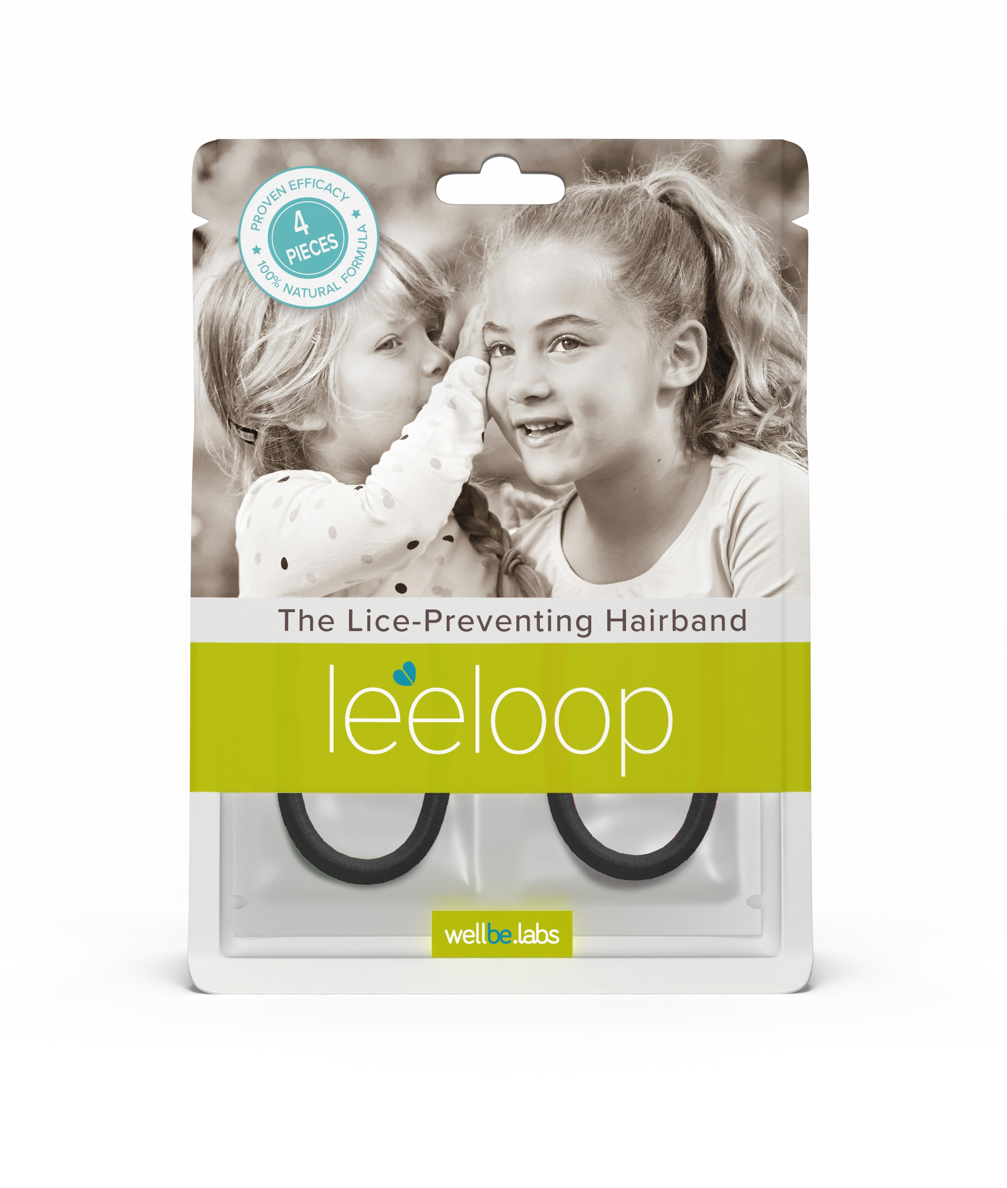 New Leeloop is a lice-preventing hairband elastic that helps protect the hair from lice infestation. Leeloop