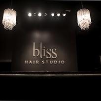 The front desk at Bliss Hair Studio in Shorewood, IL