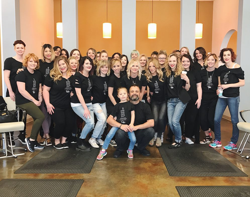 The team from Blo in Raleigh, North Carolina.