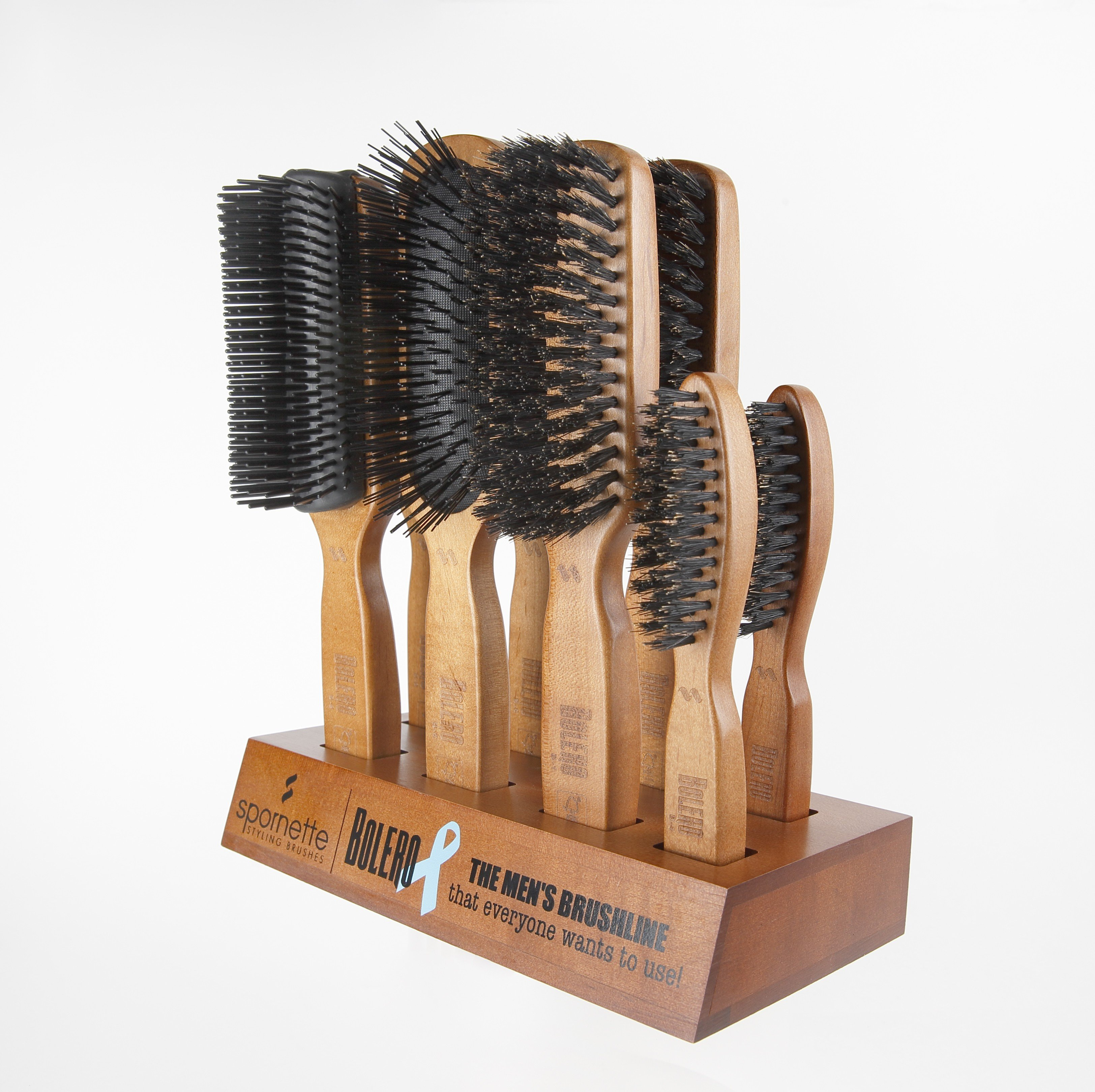 The new Bolero brush line for men from Spornette.
