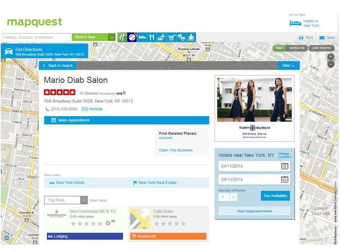 Booker Teams Up with MapQuest