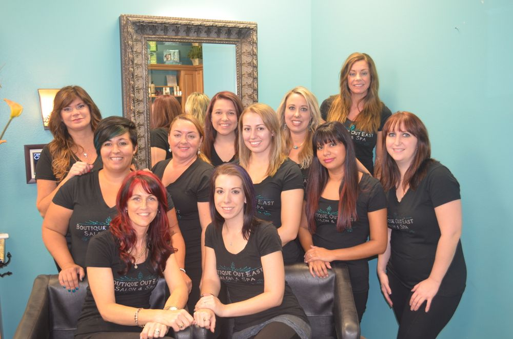The team fro mBoutique Out East Salon & Spa from Bradenton, FL.