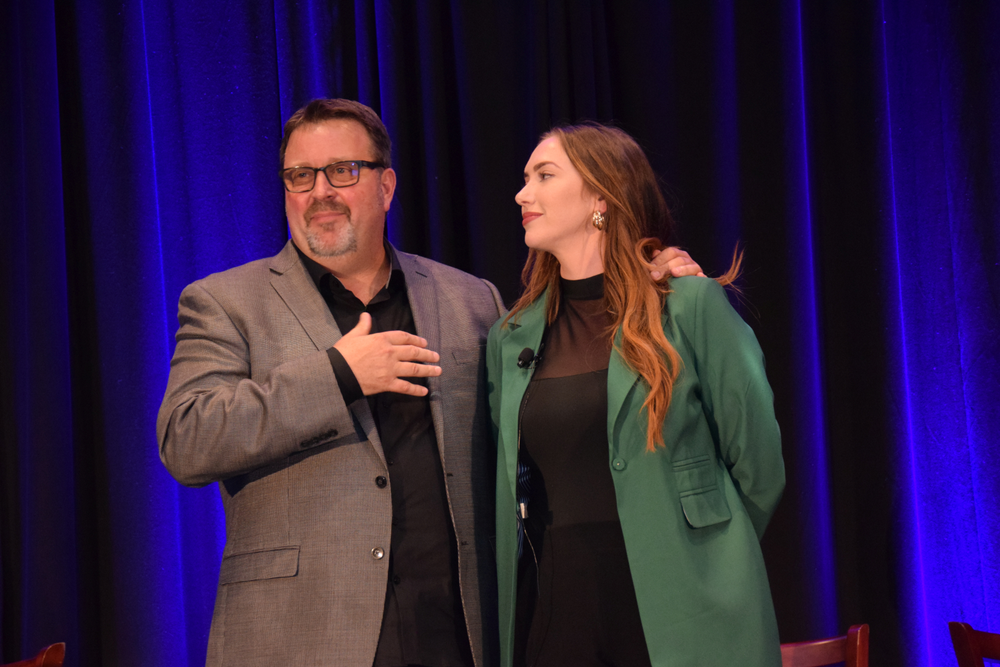 Salon 124's Brian Perdue and Amber Burns walked the attendees through several examples of campaigns that delivered significant ROMI (return on markeing investment).