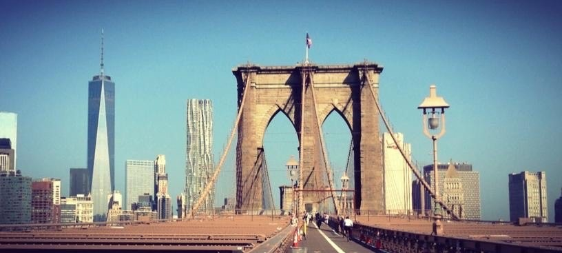 The Brooklyn Bridge.