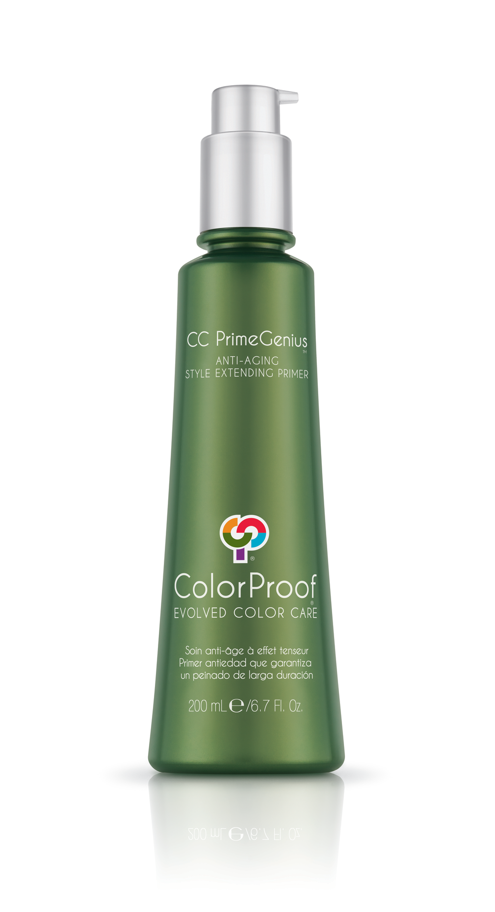 STEP 1: Begin style by applying CC PrimeGenius Anti-Aging Style Extending Primer throughout damp hair.
