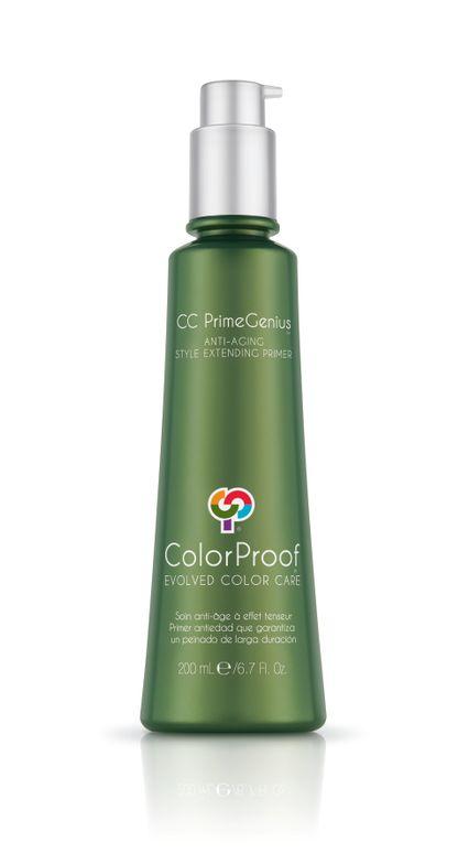 STEP 1: Begin style by applying CC PrimeGenius Anti-Aging Style Extending Primer throughout damp hair.