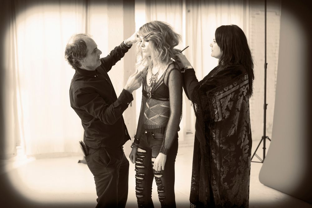 Behind the scenes at Cosmetologists Chicago's Jet-Setting shoot.