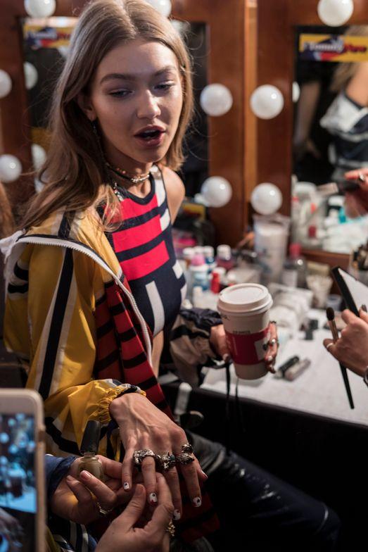 Gigi Hadid at her designer collaboration with Tommy Hilfiger, Tommy x Gigi.